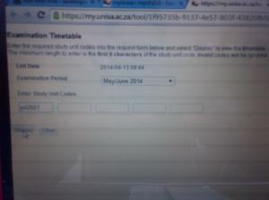 a unisa pvl typed in